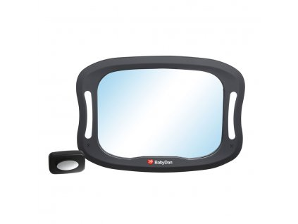 Baby Dan Nastaviteľné spätné zrkadlo do auta s LED osvetlením