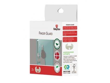BabyDan ochrana na dvere proti privretiu prstov Finger Guard 2 kusy - BIO