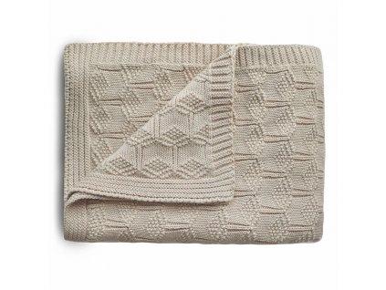 Mushie pletená detská deka z organickej bavlny