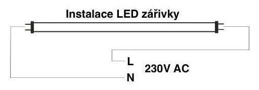Zapojení LED zářivek z obou stran