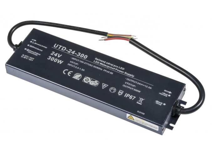 LED zdroj (trafo) 24V 300W IP67 Premium