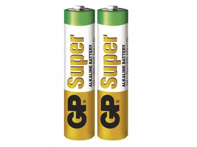 Alkalická batéria GP Super AAA (LR03), 2ks