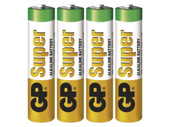 Alkalická batéria GP Super AAA (LR03), 4ks