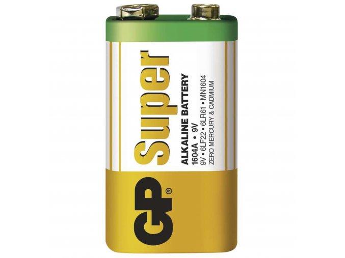 Alkalická batéria GP Super 9V (6LF22), 1ks