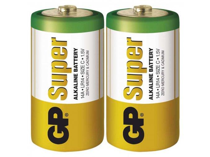 Alkalická batéria GP Super C (LR14), 2ks