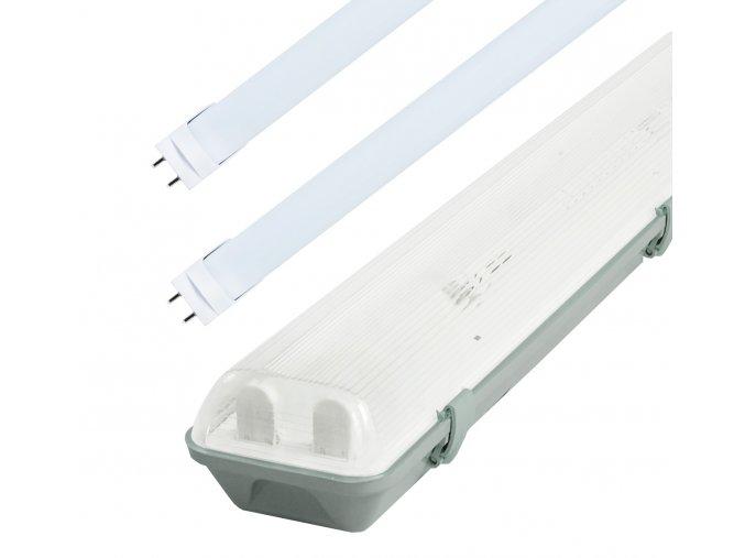 Žiarivkové teleso 120cm + 2x LED trubice 18W Premium