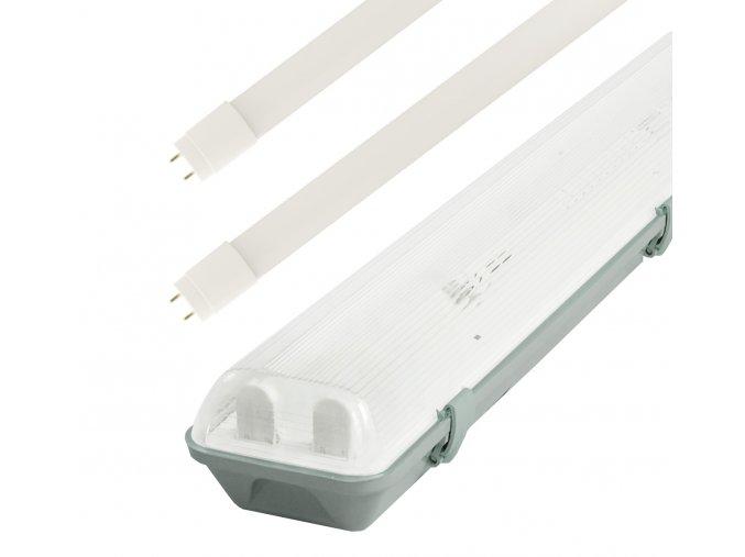 Žiarivkové teleso 120cm + 2x LED trubice 18W Economy+