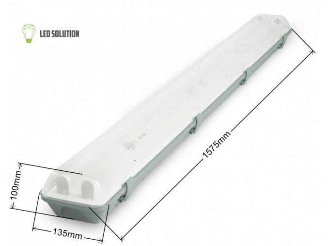 Zářivkové těleso 150cm + 2x LED trubice 22W Economy+