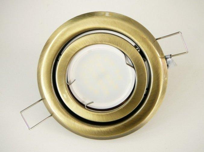 LED bodové světlo do sádrokartonu 5W matná mosaz 230V výklopné (Barva světla Studená bílá)