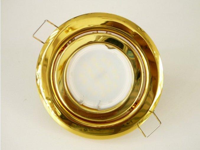 LED bodové světlo do sádrokartonu 5W zlaté 230V výklopné (Barva světla Studená bílá)