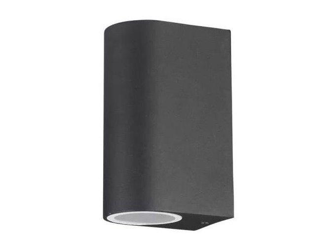 Čierne fasádne svietidlo 2x GU10