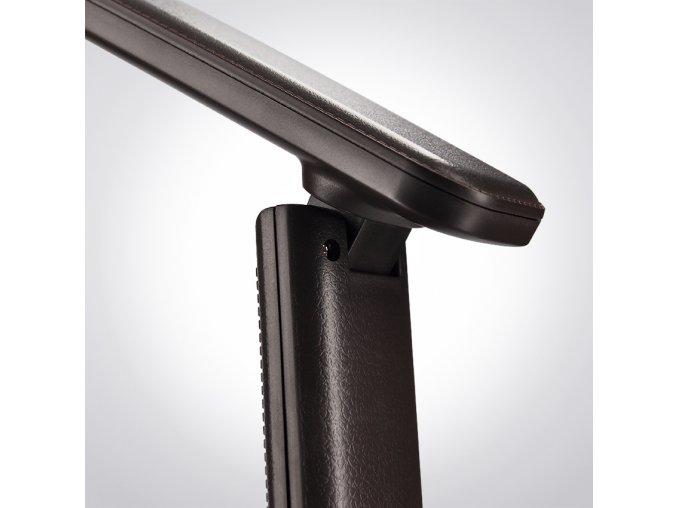 LED stolná lampa 9W s displejom hnedá