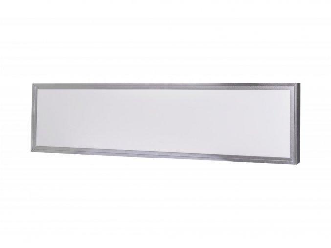 Strieborný prisadený LED panel s rámčekom 300 x 1200mm 40W Premium