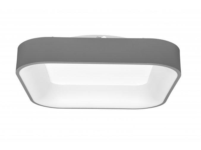 Šedé LED stropné/nástenné svietidlo hranaté 40W