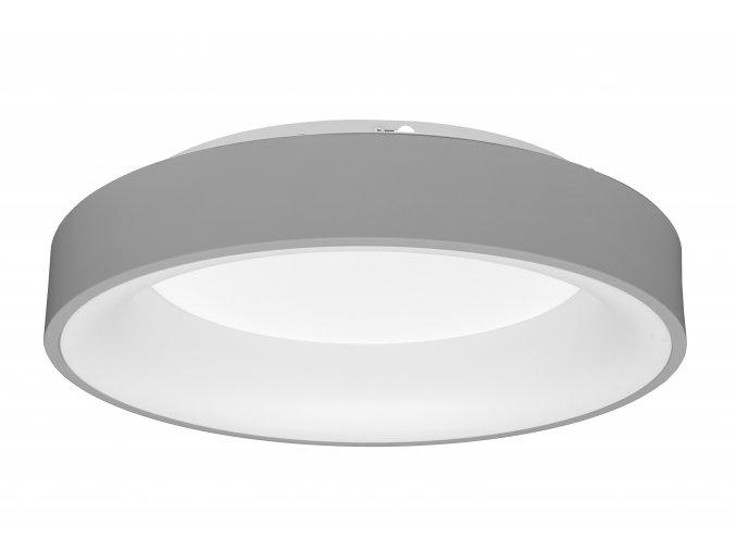 Šedé LED stropné/nástenné svietidlo okrúhle 40W