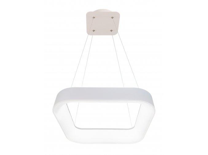 Biele LED závesné svietidlo hranaté 40W