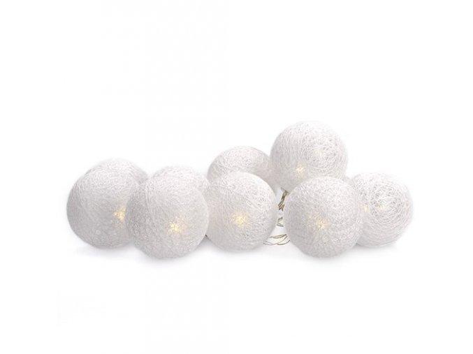 LED reťaz s motívom vianočných bavlnených ozdôb 1m