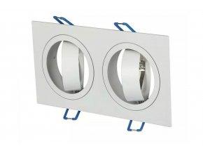Dvojitý biely podhľadový rámček hranatý výklopný