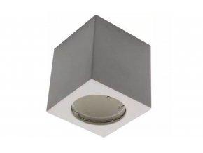 Biele prisadené svietidlo hranaté pre LED žiarovky GU10