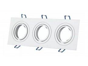 Trojitý biely podhľadový rámček hranatý výklopný