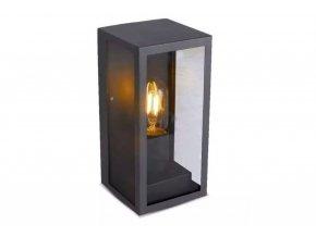 Matne čierne fasádne svietidlo pre žiarovku E27