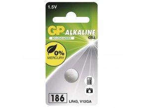 Alkalická gombíková batéria GP 186F (LR43), 1ks