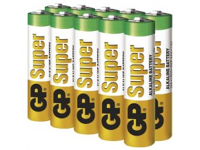 Alkalická batéria GP Super AAA (LR03), 10ks