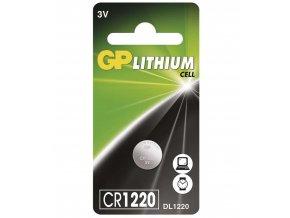 Alkalická gombíková batéria GP CR1220, 1ks
