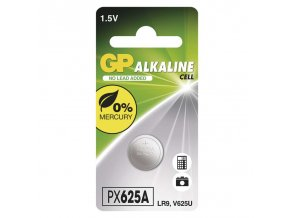 Alkalická gombíková batéria GP 625A (LR9), 1 ks