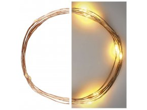 LED vianočný nano reťaz medený 1,9m