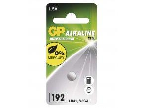 Alkalická gombíková batéria GP 192F (LR41), 1 ks