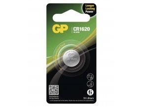 Lithiová gombíková batéria GP CR1620, 1 ks