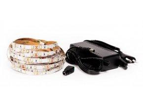 LED pásik 4,8W / m 12V bez krytia IP20 5 metrov + adaptér 36W + stmievač s DO