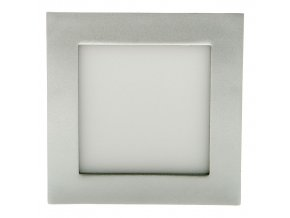 Stříbrný vestavný LED panel hranatý 120 x 120mm 6W (Barva světla Studená bílá)