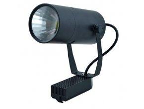 Černý lištový LED reflektor 10W 1F (Barva světla Teplá bílá)