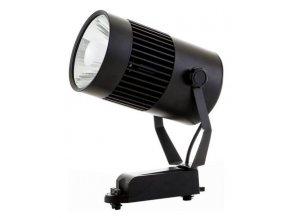 Černý lištový LED reflektor 30W 1F (Barva světla Denní bílá)