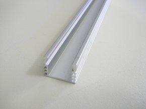 Hliníkový profil pro LED pásky N7 Mikro vysoký (Vyberte variantu a délku Profil + Násuvný opálový kryt 2m)