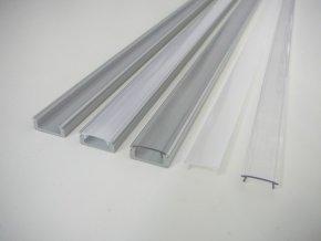 Hliníkový nástěnný profil pro LED pásky N8 (Vyberte variantu a délku Profil + Matný kryt 2m)