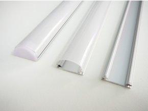 Hliníkový profil pro LED pásky TUBE (Vyberte variantu a délku Profil + Nacvakávací opálový kryt 2m)