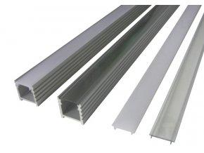 Hliníkový profil pro LED pásky N4 (Vyberte variantu a délku Profil + Čirý kryt 2m)