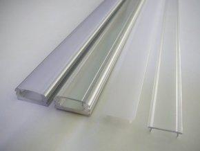 Hliníkový nástěnný profil pro LED pásky N2 (Vyberte variantu a délku Profil + Matný kryt 2m)