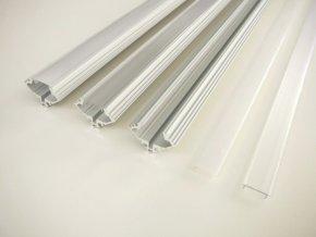 Hliníkový profil pro LED pásky rohový R4 (Vyberte variantu a délku Profil + Matný kryt 2m)