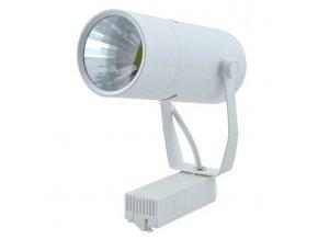 Bílý lištový LED reflektor 10W 1F (Barva světla Denní bílá)