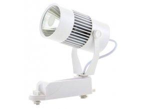 Bílý lištový LED reflektor 20W 1F (Barva světla Denní bílá)