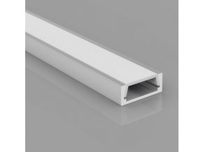 Hliníkový profil pro LED pásky Mikro-2 (Vyberte variantu a délku Profil + Násuvný opálový kryt 2m)