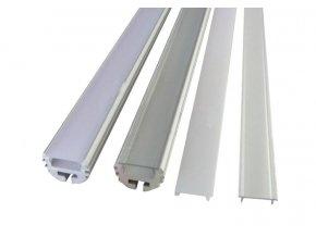 Hliníkový profil pro LED pásky kruhový (Vyberte variantu a délku Profil + Matný kryt 2m)