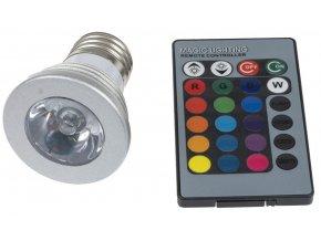 LED žiarovka RGB 3W E27