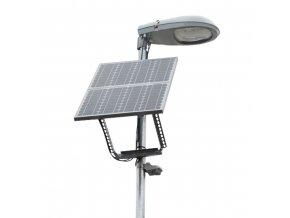 Inteligentní LED solární veřejné osvětlení 30W (Výdrž akumulátorů 52 hodin)