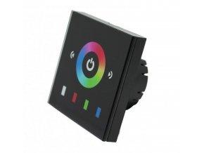 Čierny dotykový panel RGB