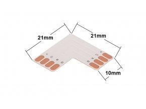 L spojka pro RGB LED pásek